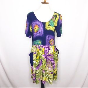 Jam's World Vintage Floral Pattern Dress